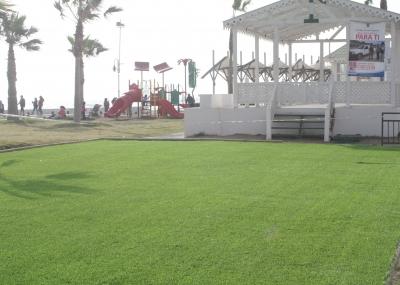 Municipio Instala Pasto Sintetico En Gimnasio Al Aire Libre Y Juegos